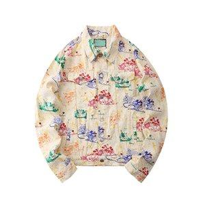 Casual Outwear Giyim kukuletalı Erkekler WINDBREAKER Harita Yansıtıcı Moda Marka Erkek Ceket 2020 Kutu Logo Lüks Tasarımcı Ceket Coat