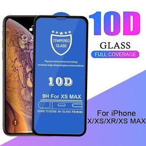 9H Tela Dureza Protector 10D vidro temperado rígido Borda Telefone Guarda Protective Film Para iPhone 11 Pro Max XS XR X 8 7 6 6S Além disso,