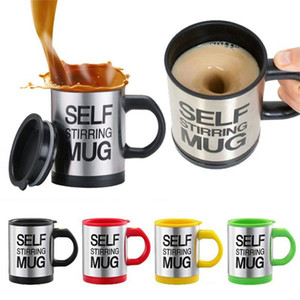 Coffee Mugs stainless steel bottle Self Stirring Coffee Cups mug With Lid lazy Electric Coffee Mixer Auto Mixing Tea Milk Drinkware