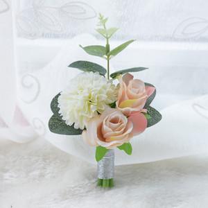 Artificia Corsages para el novio Groomsmen Party Prom Chalecos Trajes de boda para hombres Wedding Suit Groomsmen Silk Flowers Country Style