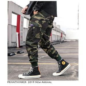 Privathinker Homens Streetwear Japonês Camo Basculadores Calças 2019 Homem Primavera Bolsos Carga Calças Macacões Machos Moda Harem Pants SH190902