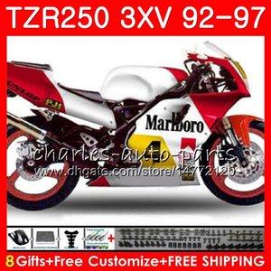 Corpo per Yamaha 3xv TZR250 1992 1993 1994 1995 1996 1997 Glossy White 119hm.aa TZR250RR RS TZR 250 YPVS TZR-250 92 93 94 95 96 97 Fairings