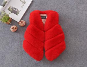 Baby Faux Fur Girl coat women winter streetwear Sleeveless Vest Waistcoat Jacket Coat Outwear