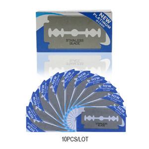 دوركو 10 قطع شفرات حلاقة الفولاذ المقاوم للصدأ السلامة شفرات حلاقة الحلاقة للرجال حلاقة الحلاقة الحلاقة بليد دروبشيبينغ