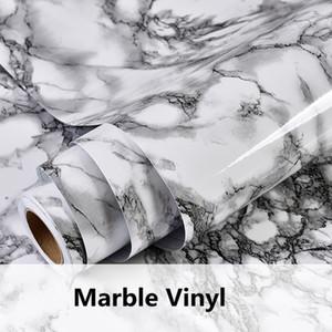 Modern Su Geçirmez Vinil Kendinden yapışkanlı Duvar Kağıdı Mermer İletişim Kağıt Mutfak Dolap Raf Çekmece Astar Duvar Sticker