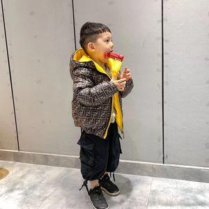 Çift Taraflı Kapşonlu Kış Ceketler Moda Erkek Çocuklar Parkas Kız Kalın Coat Çocuk Giyim Wear