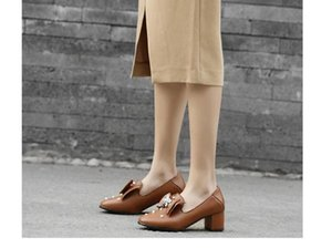2020 Spring and Autumn with New style fashion High heel Coarse heel round head bowknot Women's shoes@GH15