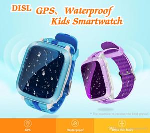 DS18 GPS Tracker Acompanhamento Crianças Crianças relógio inteligente Waterproof Sim Card Crianças Xmas Presente SOS pulso de emergência para monitor remoto