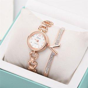 Die Uhren der Frauen der Spitzenmarken-Licht Mädchen Temperament Uhrenarmband-Set Kette Wrisrwatch Montres Femme Saat Geburtstags-Geschenk