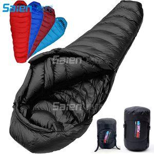حقيبة النوم السفلية 0 درجة فهرنهايت - 20 درجة - 30 درجة فهرنهايت لأسفل ، حقيبة تعبئة 1000 ، 4 مواسم ، مومياء ، خفيفة ، التخييم ، التنزه