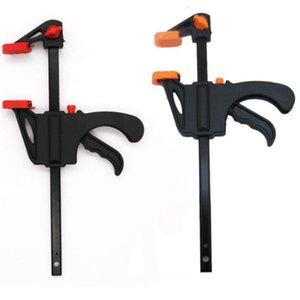 4 Inch Fixed Clip Woodworking Bar F Clamp Grip Ratchet Release Squeeze DIY Hand Carpenter Tool Clamp For Gluing Projects