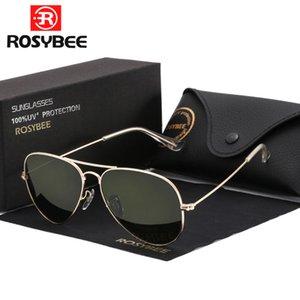 High Quality G15 Glass Lens women men Sunglasses uv400 aviation brand classic mirror male oculos vintage banned man sun Glasses CX200703