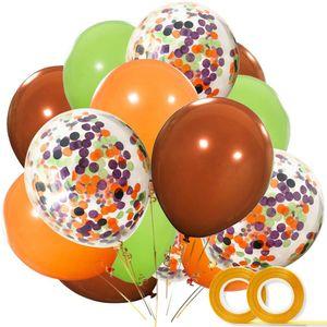 Accessori per la casa 27pcs Animale da safari Forestale Animali Buon compleanno Banner compleanno della decorazione per le forniture Bambini festa di compleanno