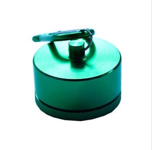 XXL alliage d'aluminium mousqueton porte-clés boîte à pilules cas titulaire de la bouteille conteneur stockage étanche stockage hermétique cylindre stash 4 couleur mode