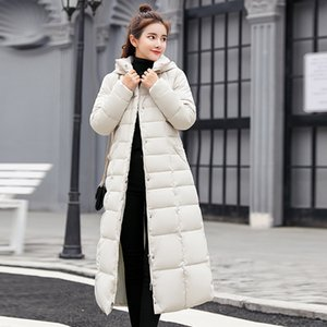 Winter Warm Frauen Daunenjacke Pelzkragen Cotton Padded verdicken Damen X-Long Overcoat Parka Schnee Windjacke weiblich Outwears