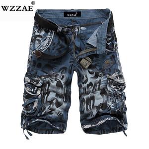 Wzzae 2018 Novo Design Homens Camuflagem Verão Carga Militar Shorts Bermuda Masculina Calça Jeans Masculina Moda Casual Baggy Denim Shorts Y19042005
