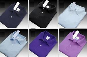 A8 2019 Summer Men Luxury Высокое качество бренда Крокодил вышивки рубашки поло с коротким рукавом Прохладный хлопок Тонкий Fit Повседневный Business Men