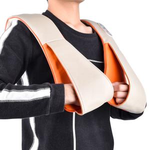 Здравоохранение U-образный стук назад массаж Шаль обезболивание тела расслабляющий шейки шеи плеча стучать массажер с ЕС штекер