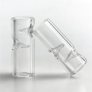 Punte per filtri mini in vetro XL grande formato con 30mm * 7mm Clear Pyrex Glass 2mm Filtro spesso per fumatori di vetri da tabacco