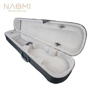 NAOMI Silver футляр для скрипки 1/8 1/4 1/2 3/4 размера Профессиональный футляр для скрипки треугольной формы - серебристый внутри скрипки