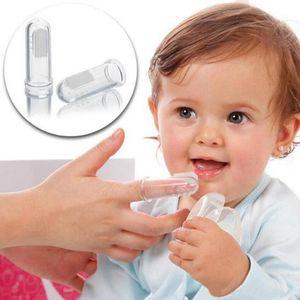 Süper Yumuşak Silikon Pet Parmak Diş Fırçası Teddy Köpek Kedi Fırça Diş Bakımı Bebek Diş Fırçası Temizleme Silikon temizleme masaj Malzemeleri