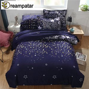 Fashion Dream Starry Sky Active Printing Bequeme Bettwäsche Single Double Extra Large Quilt Kissenbezug Bettwäsche-Set BY173B