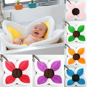Baby Bathtub Newborn Foldable Flower Blooming Bath Tub Baby Anti-slip Blooming Sink Bath For Toddler Bath Sunflower Cushion Mats