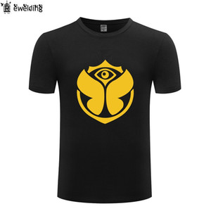 Música electrónica Tomorrowland Camiseta de hombre Hip Hop Camisetas Hombre de algodón de manga corta Camiseta masculina Camiseta de manga corta Homme Funny