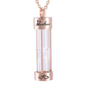 Новый Розовое Золото памяти Песочные Часы Урна Подвеска Кремация Ювелирные Изделия Урна Ожерелья Мемориал Пепел для Женщин Бесплатный Заполнить комплект