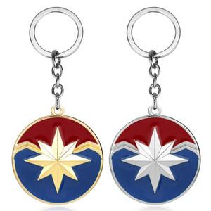 Kadınlar Erkekler Takı Hediyeler için Marvel Kaptan Marvel Shield Anahtarlık 4 Superhero Carol Danvers Charms Anahtarlıklar