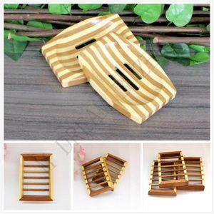 Natürliche Bambusholzseifenschale aus Holz Seifen-Behälter-Halter-Speicher-Seifen-Zahnstange Platten-Container für Badewanne Dusche