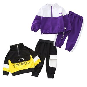 2020 Spring Baby Casual Tracksuit Children Boy Girl Cotton Zipper Jacket Pants 2Pcs Sets Kids Leisure Sport Suit Infant Clothing