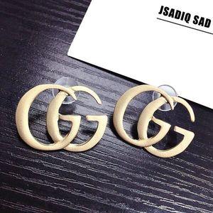 Hot venda mulheres Luxo 925 brincos de prata Letters G Ear Stud Brinco Jóias Natal para presente de casamento
