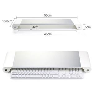 Support pour moniteur support de charge USB support renforcé en alliage d'aluminium de base de l'ordinateur portable Accessoires pour ordinateur dhl gratuit