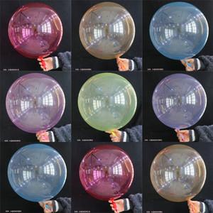 NS Crystal Bobo Ball Multicolor Air Balloon 웨딩 장식 밝은 색 풍선 18 인치 다채로운 Clear Inflatable Balls 2019