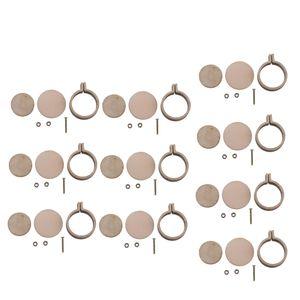 10er Set Mini Rund Holz Stickrahmen Innendurchmesser 2cm - Kreuzstich, Kunst, Bastelwerkzeuge