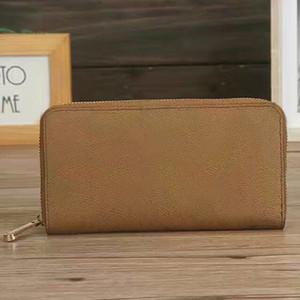 Wholesale Classic standard designer wallet PU fashion damier long purse moneybag zipper pouch coin pocket note compartment organizer wallet