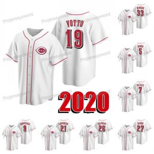 2020 New Season Joey Votto Jersey Eugenio Suarez Tucker Barnhart Michael Lorenzen Tony Perez Jesse Winker Sonny Gray Luis Castillo Jerseys