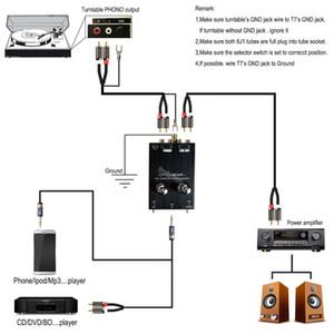 Freeshipping T7 valve du tube d'argent Phono MM amplificateur Turntable préamplificateur RIAA CD Préampli