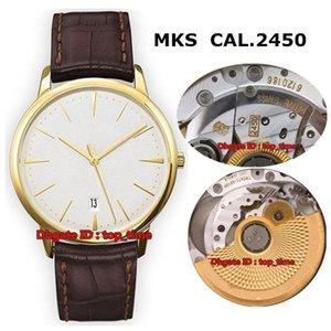 Orologio da uomo automatico Patrimony Contemporaine CAL.2450 3 migliori orologi in stile 85180 / 000J-9231 con cinturino in pelle quadrante argento Orologi da uomo