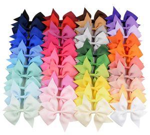 """INS capelli 40 colori della caramella di arco 4"""" bambini infilo regalo di compleanno Hairbands Bowknot ragazza hairbands archi dei capelli"""