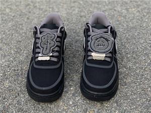Dikiş Fermuar Travis Sıcak 1 Düşük TS Kaykay Erkekler 3M Beyaz Siyah Spor Sneakers MIUI Running Splice Moda Tasarımcısı Shoes