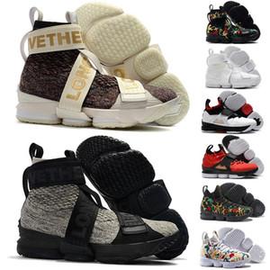 2020 Kith Lebron 15 XV Trois Rois Lifestyle Performance Béton Vive le Roi Hommes Chaussures de basket 15s all star Formateurs Chaussures de sport