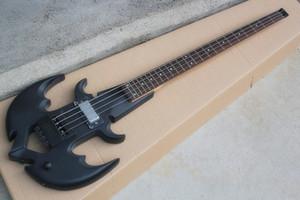 맞춤형 무광택 블랙 4 현 스트로크베이스 기타 (앵커 모양, 24 프렛, 로즈 우드 플레어 보드, 맞춤형 제공)
