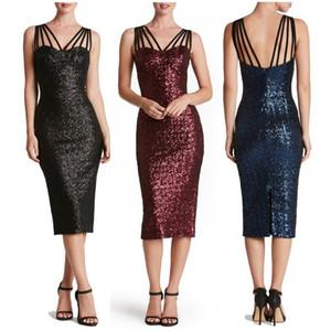 새로운 패션 섹시한 스팽글 파티 드레스 여성 숙녀 구슬 멀티 로프 민소매 긴 저녁 bodycon 파티 드레스 여름 플러스 사이즈 S-2XL dresse