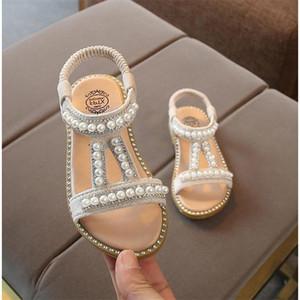 Девушки Летняя принцесса сандалии на резинке сандалии девушки Pearl украшения Одноместный Обувь Дети Производительность обуви 07