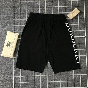 Verano vertical del diseñador de los hombres pantalones cortos del bordado de la manera imprimió con cordón cortocircuitos Relajado pantalón de lujo Homme