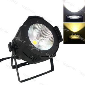 Par ligero Dimmable 100W COB DMX512 Voz activado con aleación de aluminio de ventilador para discoteca DJ Lighting Fiesta de Navidad Efecto DHL