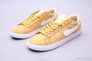 2019 nuevo SB Zoom Blazer Low Sneaker Designer Hombres de alta calidad Amarillo Blanco Negro Pionero Casual Zapatos bajos con tapa