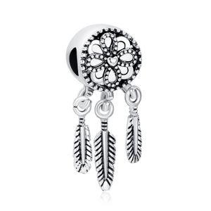 Dreamcatcher Dangle Charm Bead Big Hole Moda Mujer Dejar Rosa Joyería de Plata de Oro Para DIY Pulsera Collar Brazalete